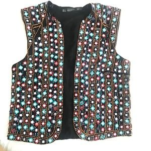 Zara festive colorful vest